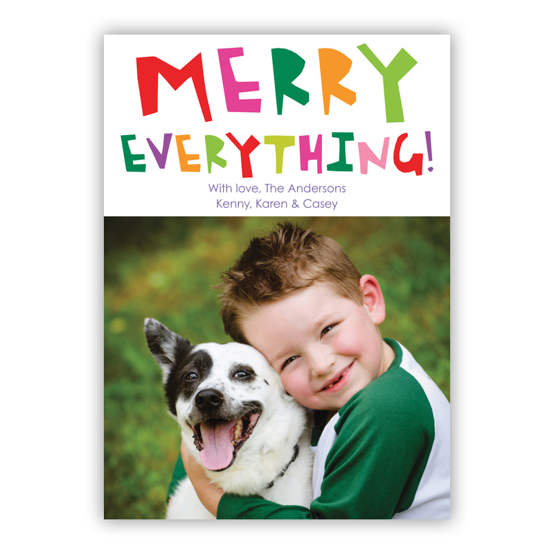 Merry Evertything Holiday Photocard