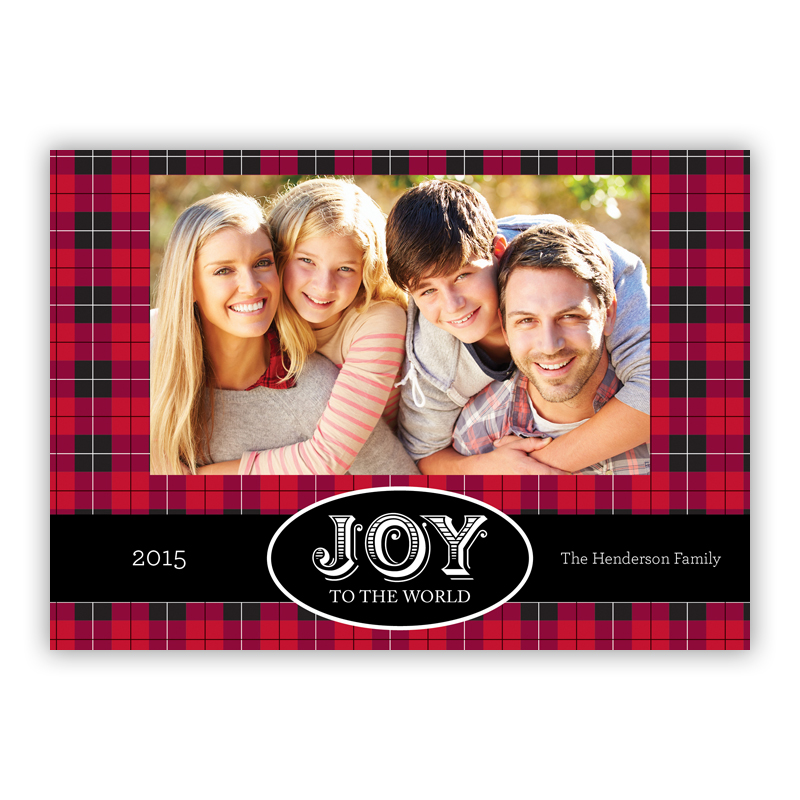 Lumberjack Plaid Holiday Photocard
