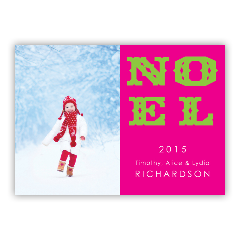 Noel Holiday Photocard