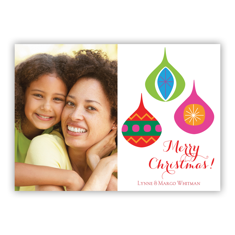 Three Ornaments Holiday Photocard
