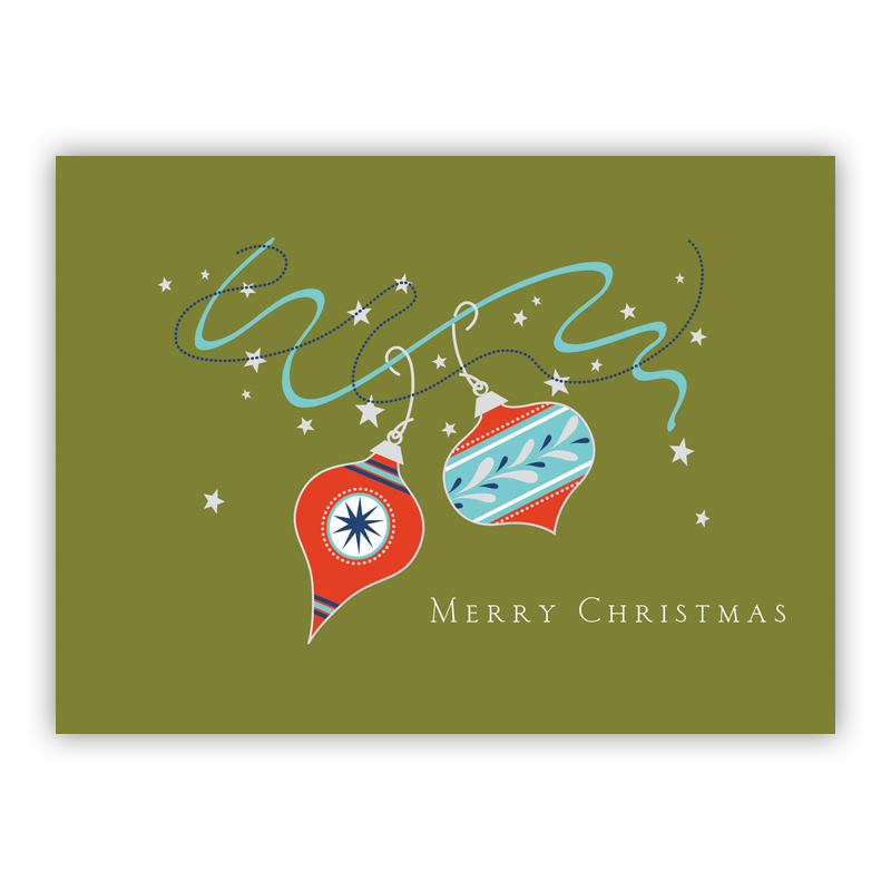 Ornaments Christmas Holiday Greeting Card