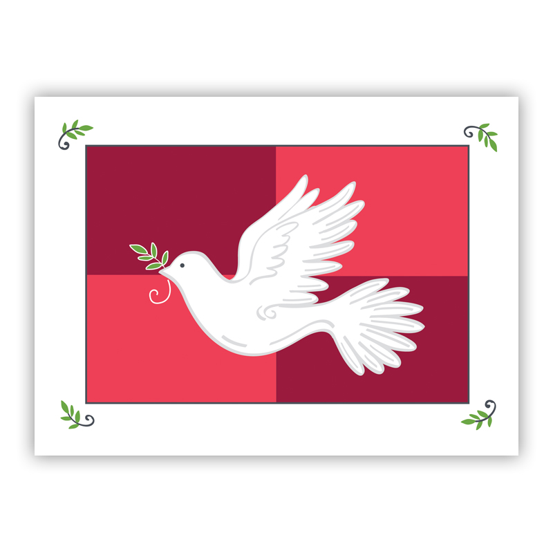 Flying Dove Holiday Greeting Card