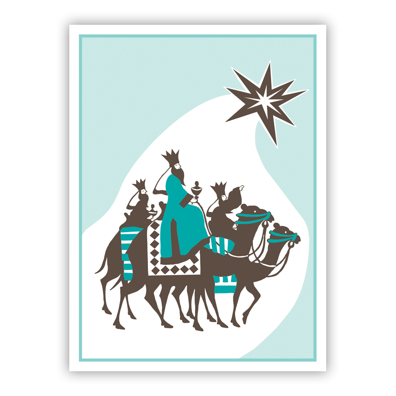 Kings and Camels Holiday Greeting Card