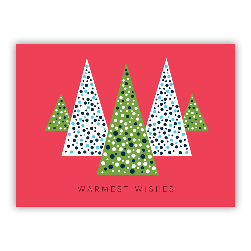 Mod Trees Holiday Greeting Card