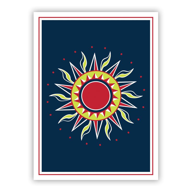 Sun Navy Holiday Greeting Card