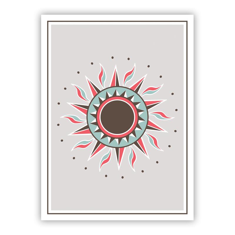 Sun Brown Holiday Greeting Card