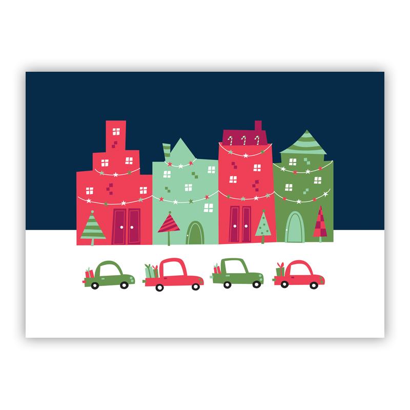 Block City Holiday Greeting Card