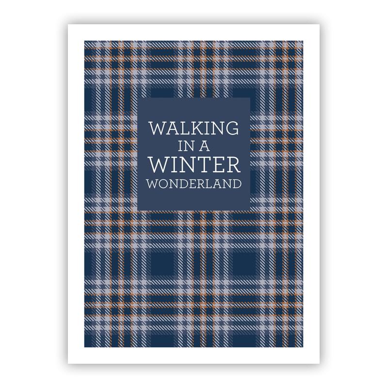 Winter Wonderland Plaid Holiday Greeting Card