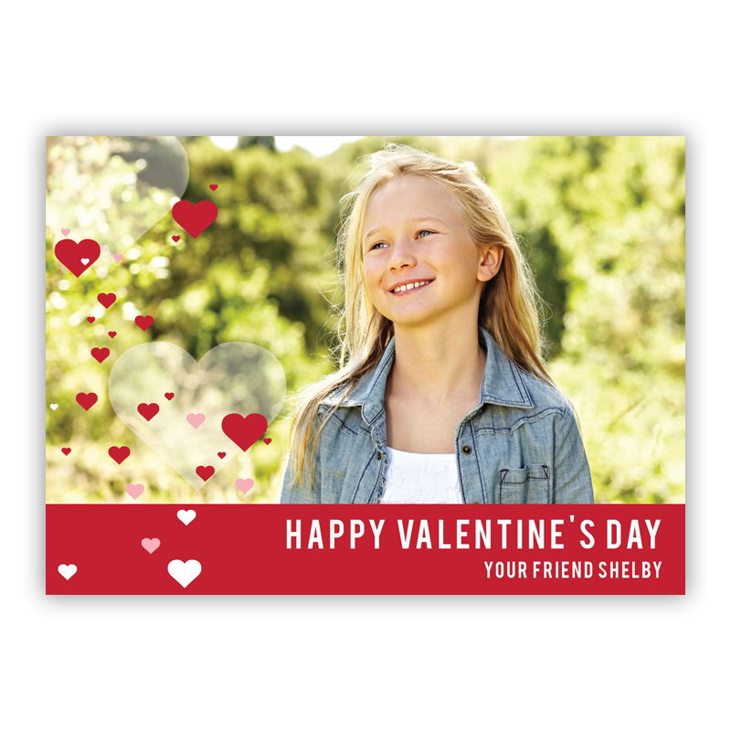 All Hearts Red Valentines Day Photocards, Personalized, qty 16