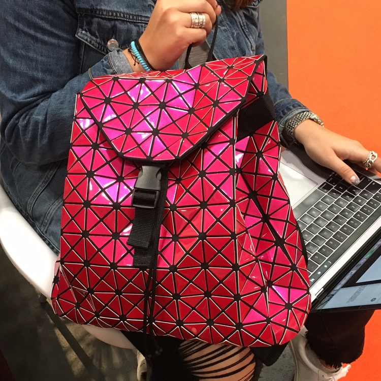 Triangle Design Backpack with Cinch Closure in 7 Colors