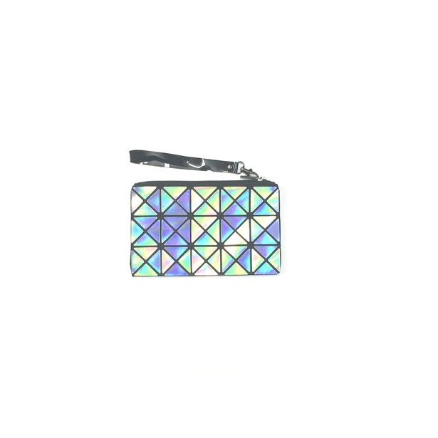 Triangle Design Wristlet in Hologram