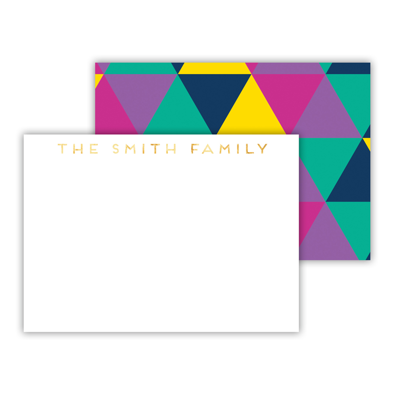 Acute Foil Personalized Mini Flat Card with Foil Accents (25 cards)