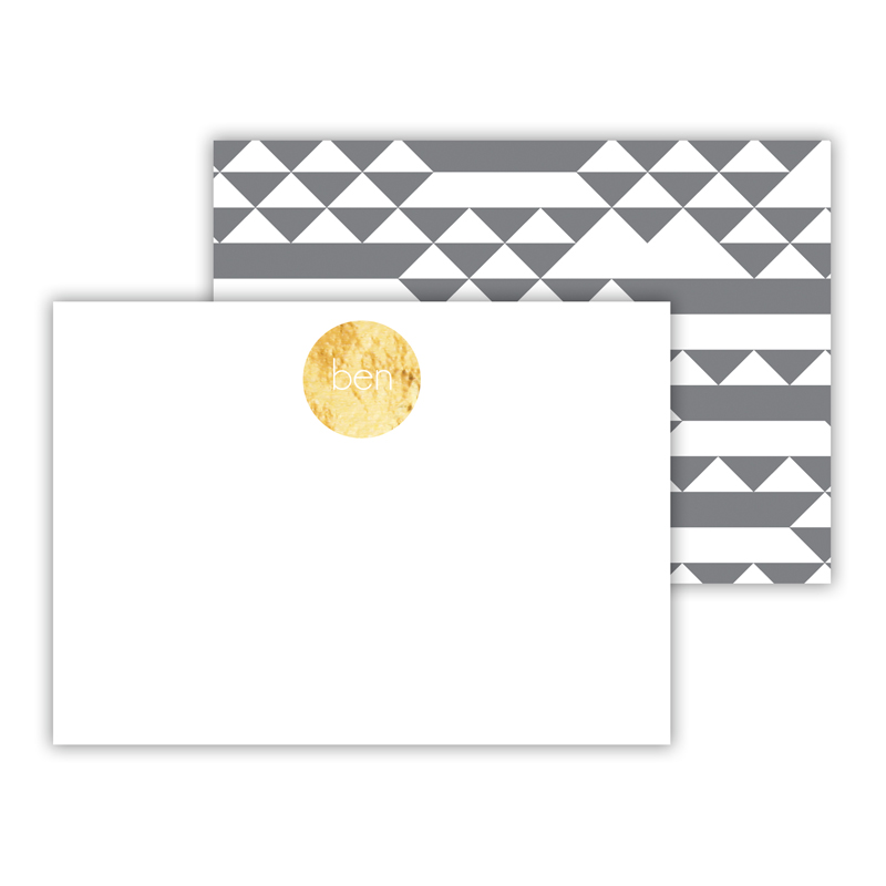 Bermuda Foil Personalized Mini Flat Card with Foil Accents (25 cards)