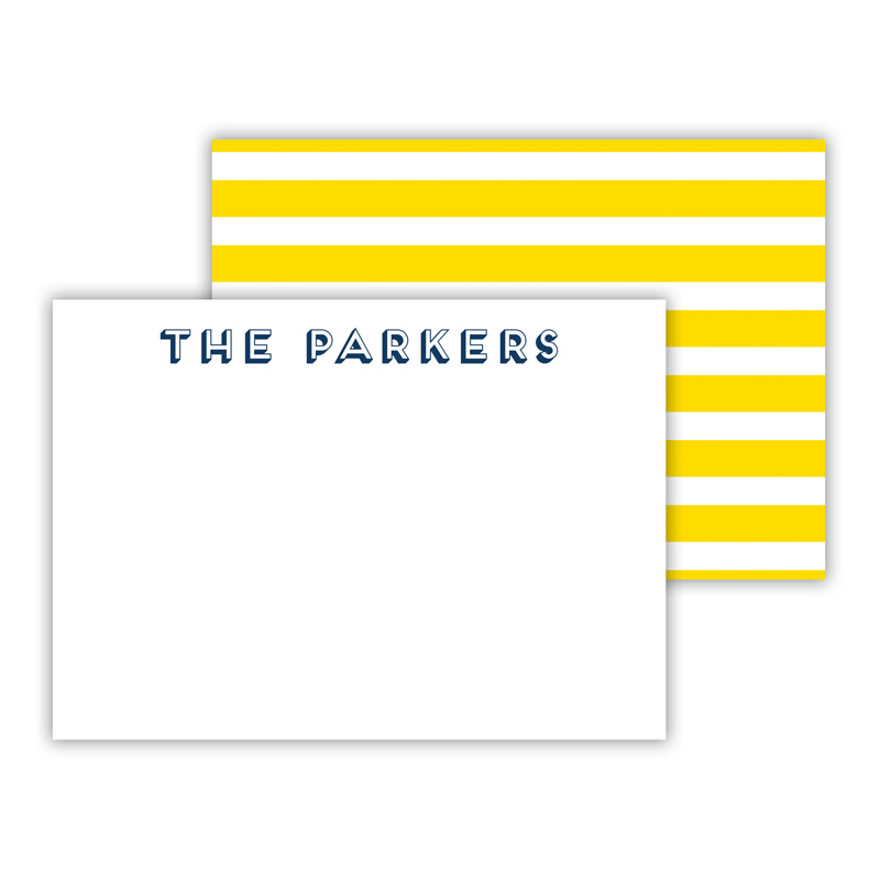 Cabana Personalized Mini Flat Note Card (25 cards)