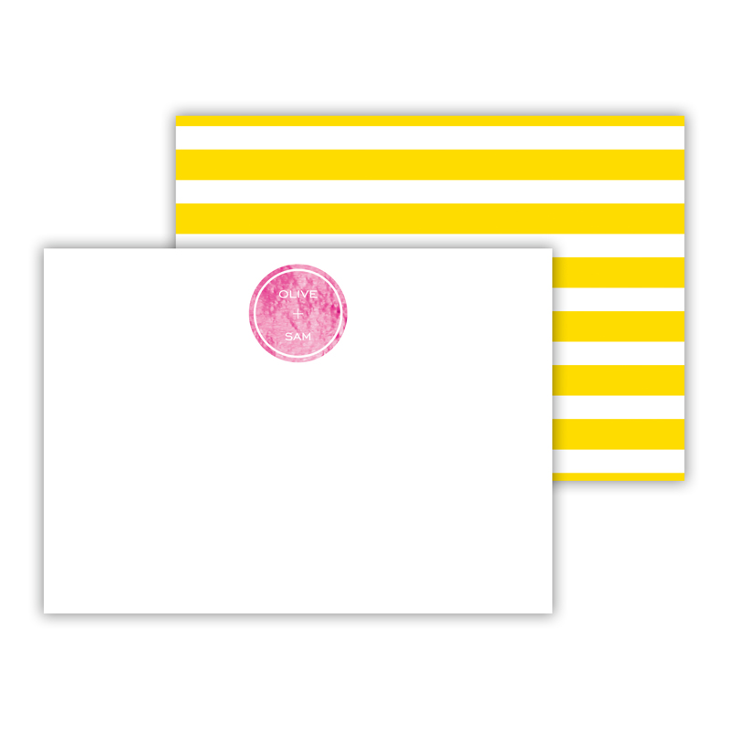 Cabana Foil Personalized Mini Flat Card with Foil Accents (25 cards)