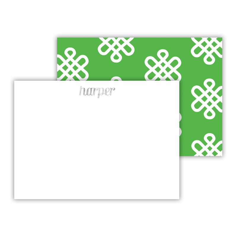 Clementine Foil Personalized Mini Flat Card with Foil Accents (25 cards)