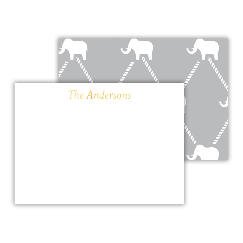 Dumbo Foil Personalized Mini Flat Card with Foil Accents (25 cards)