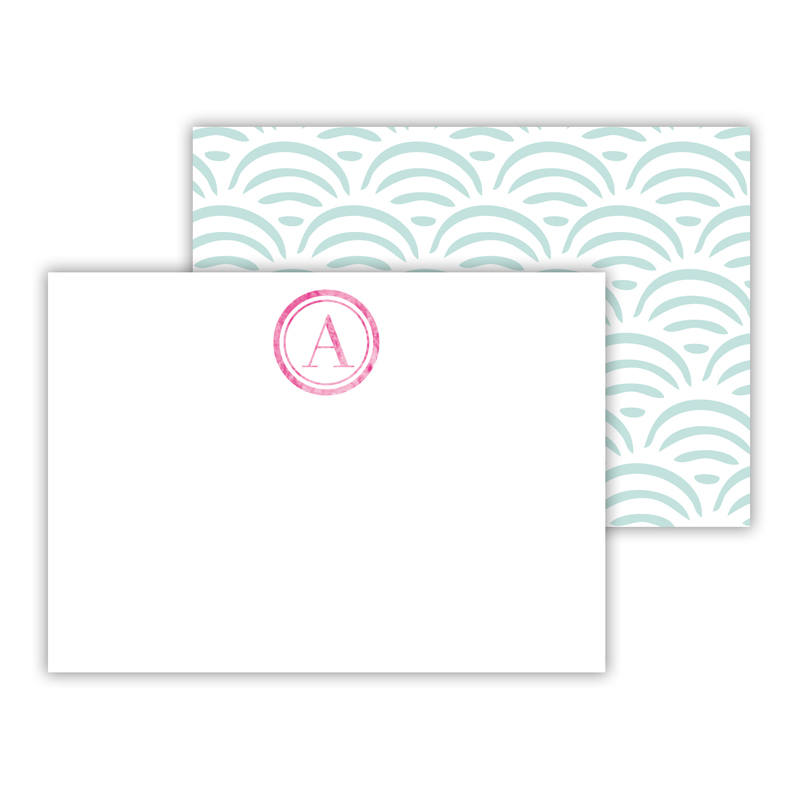 Ella Foil Personalized Mini Flat Card with Foil Accents (25 cards)