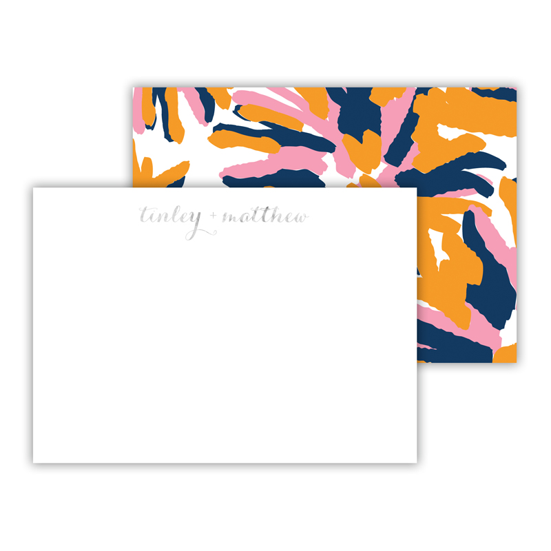 Fireworks Foil Personalized Mini Flat Card with Foil Accents (25 cards)