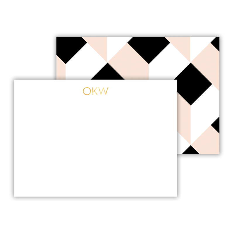 Golden Girl Foil Personalized Mini Flat Card with Foil Accents (25 cards)