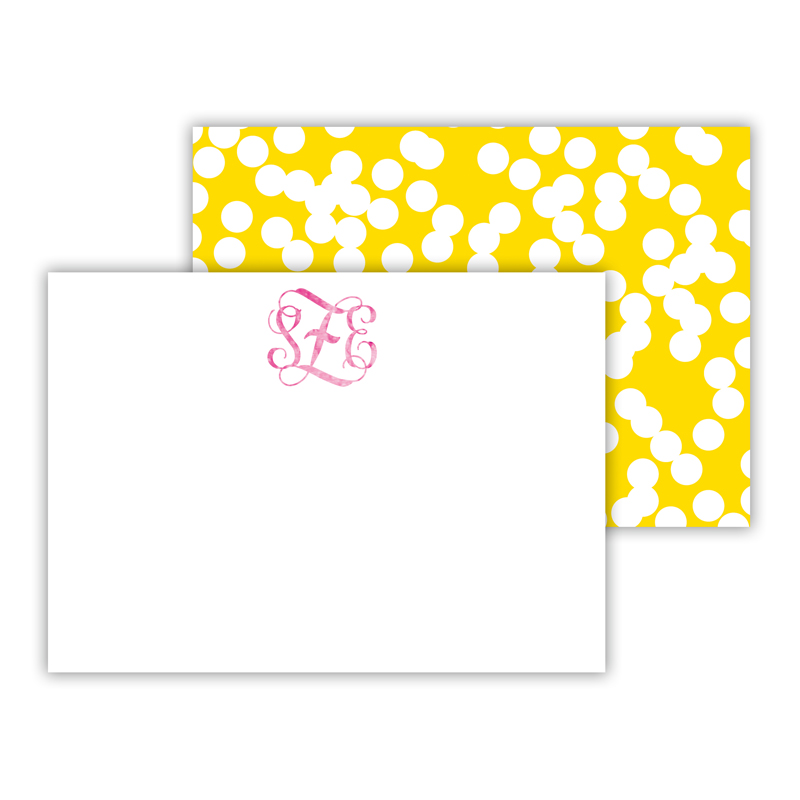 Holepunch Foil Personalized Mini Flat Card with Foil Accents (25 cards)