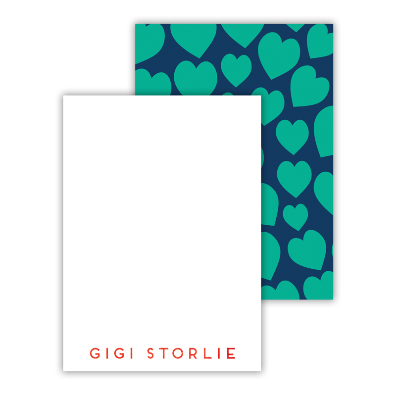 Lovestruck Foil Personalized Mini Flat Card with Foil Accents (25 cards)