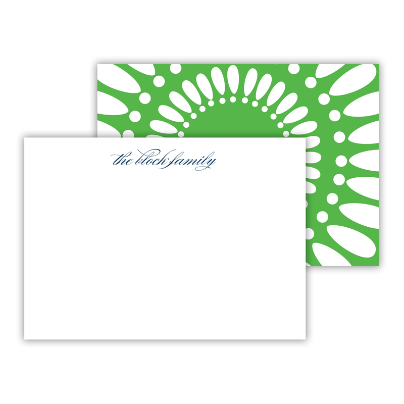 Medallion Personalized Mini Flat Note Card (25 cards)