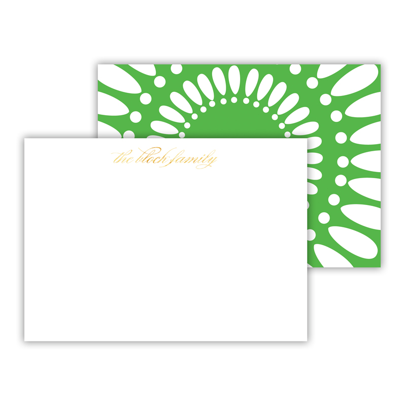 Medallion Foil Personalized Mini Flat Card with Foil Accents (25 cards)