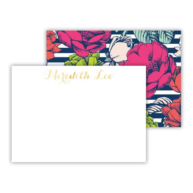 Millie Foil Personalized Mini Flat Card with Foil Accents (25 cards)