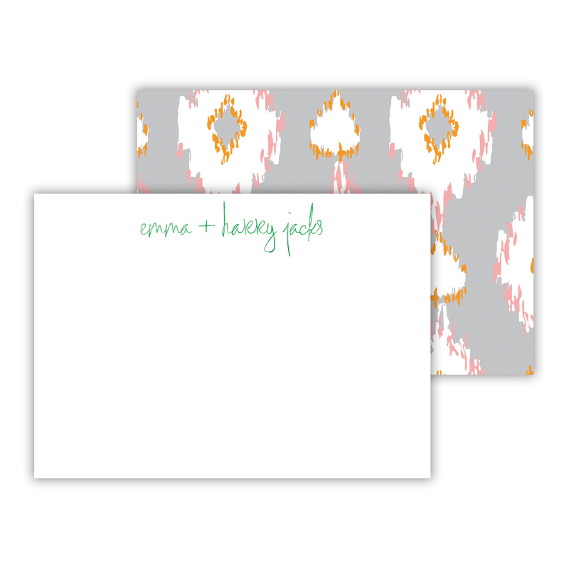 Mirage Foil Personalized Mini Flat Card with Foil Accents (25 cards)