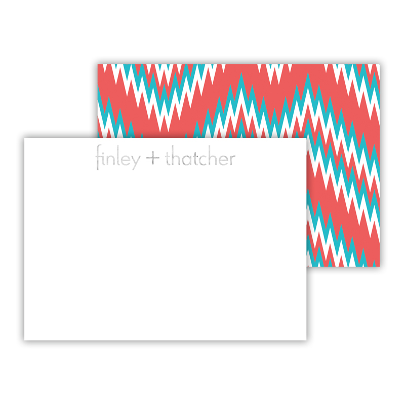 Mission Fabulous Foil Personalized Mini Flat Card with Foil Accents (25 cards)