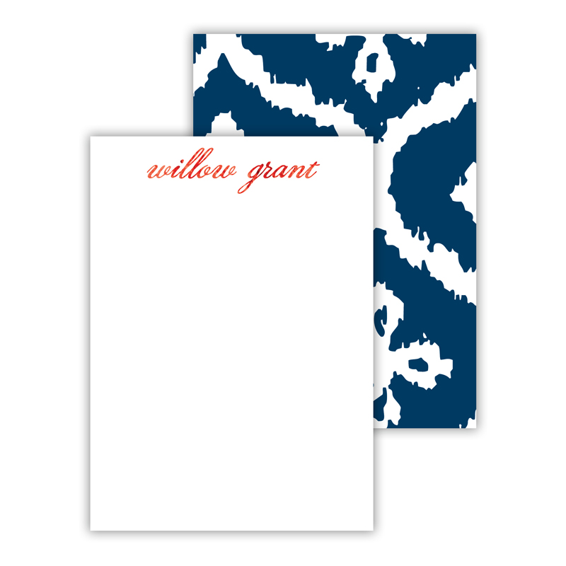 Montauk Foil Personalized Mini Flat Card with Foil Accents (25 cards)