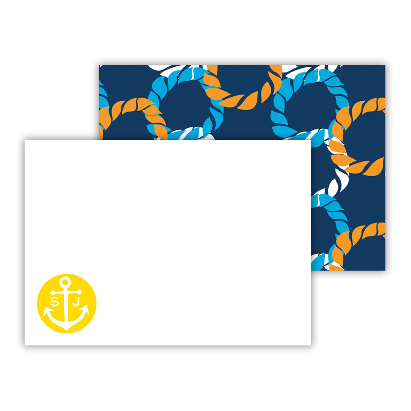 Nautical Knot Personalized Mini Flat Note Card (25 cards)