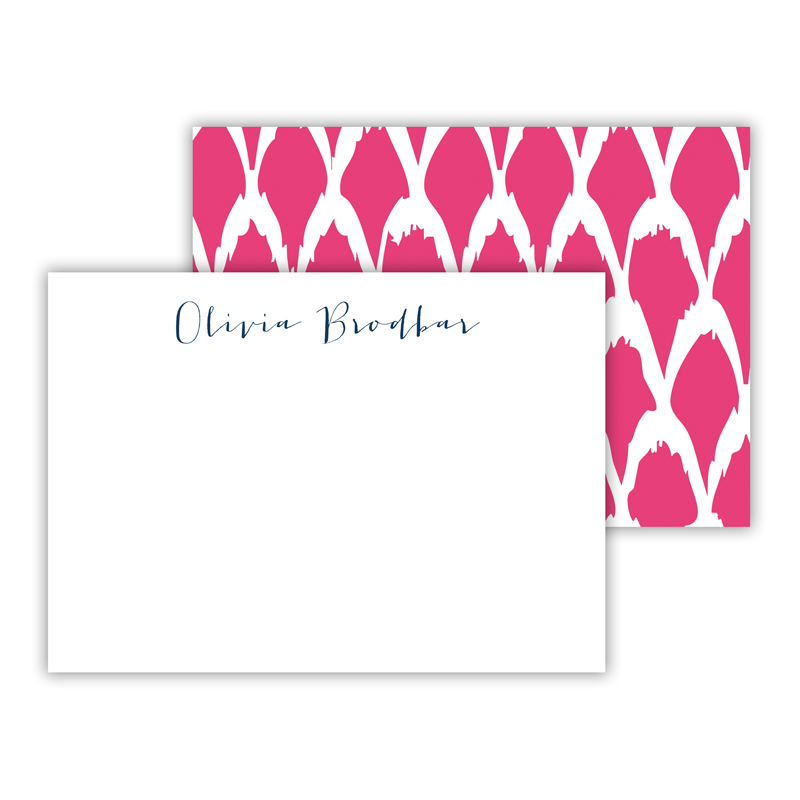 North Fork Personalized Mini Flat Note Card (25 cards)