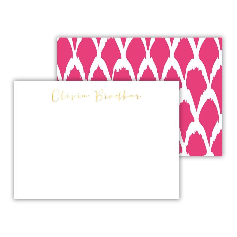 North Fork Foil Personalized Mini Flat Card with Foil Accents (25 cards)