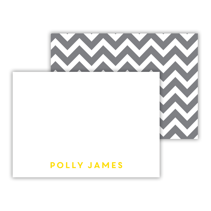 Ollie Personalized Mini Flat Note Card (25 cards)