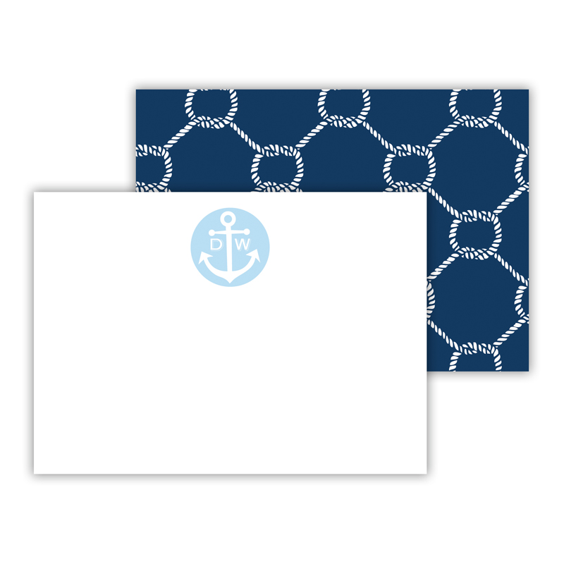 Rope Personalized Mini Flat Note Card (25 cards)