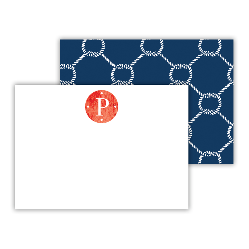 Rope Foil Personalized Mini Flat Card with Foil Accents (25 cards)