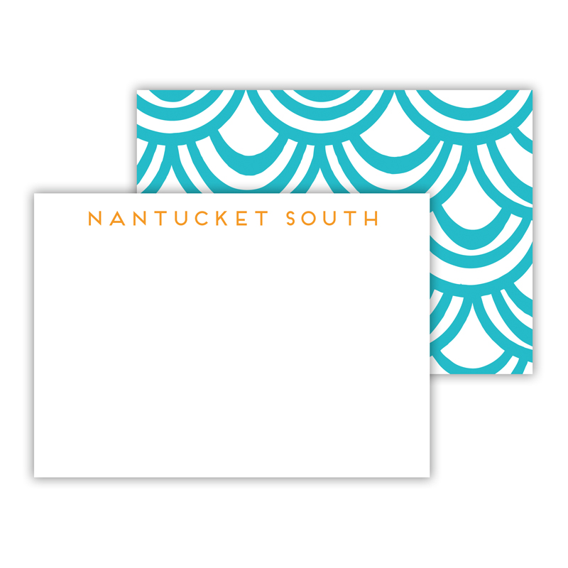 Seashells Personalized Mini Flat Note Card (25 cards)
