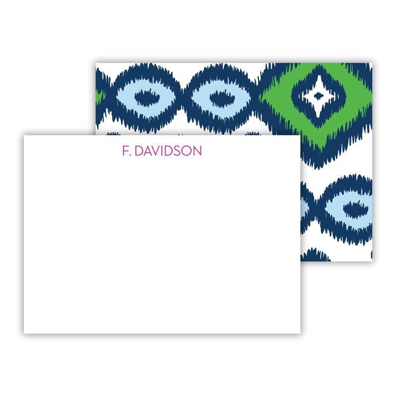 Sunset Beach Personalized Mini Flat Note Card (25 cards)