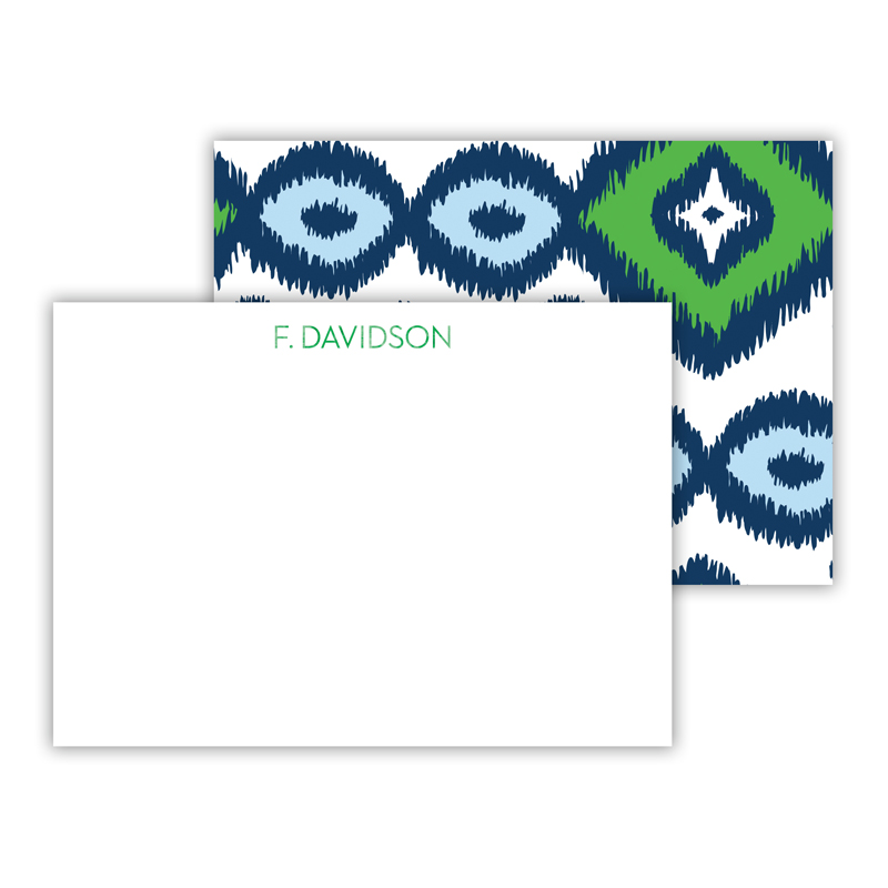 Sunset Beach Foil Personalized Mini Flat Card with Foil Accents (25 cards)