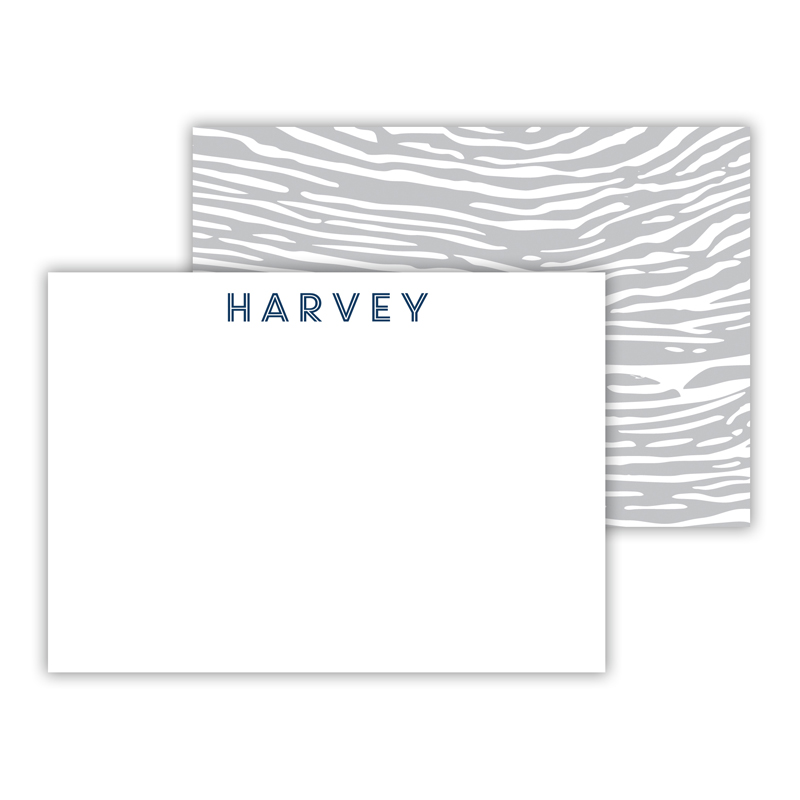 Varnish Personalized Mini Flat Note Card (25 cards)