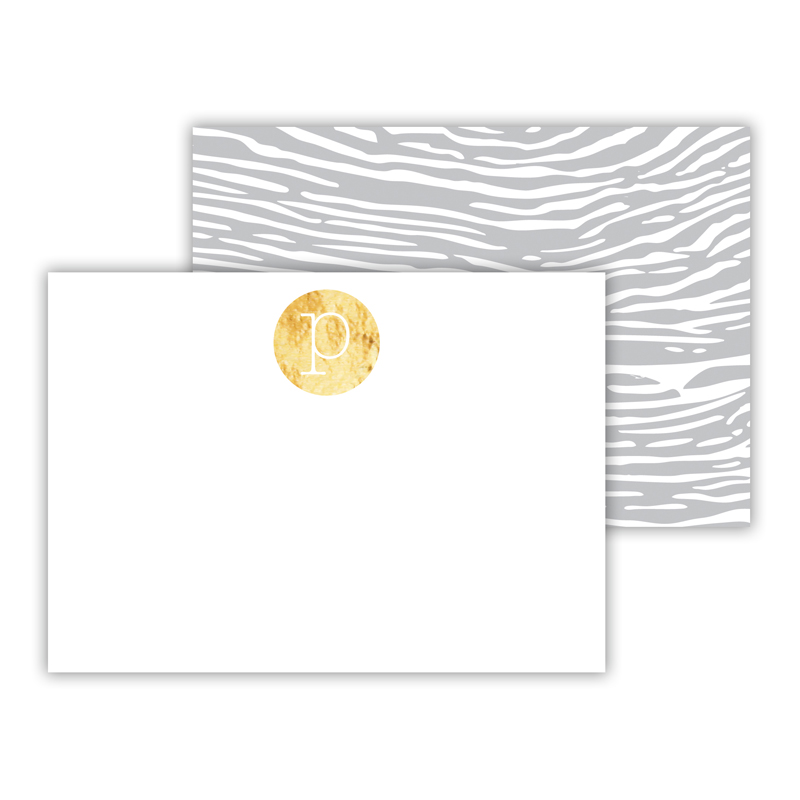 Varnish Foil Personalized Mini Flat Card with Foil Accents (25 cards)