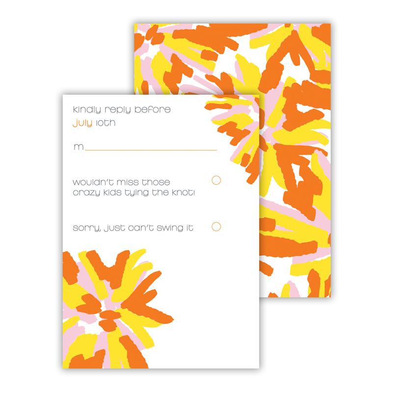 Brooklyn Flowers 25 Personalized Response Cards