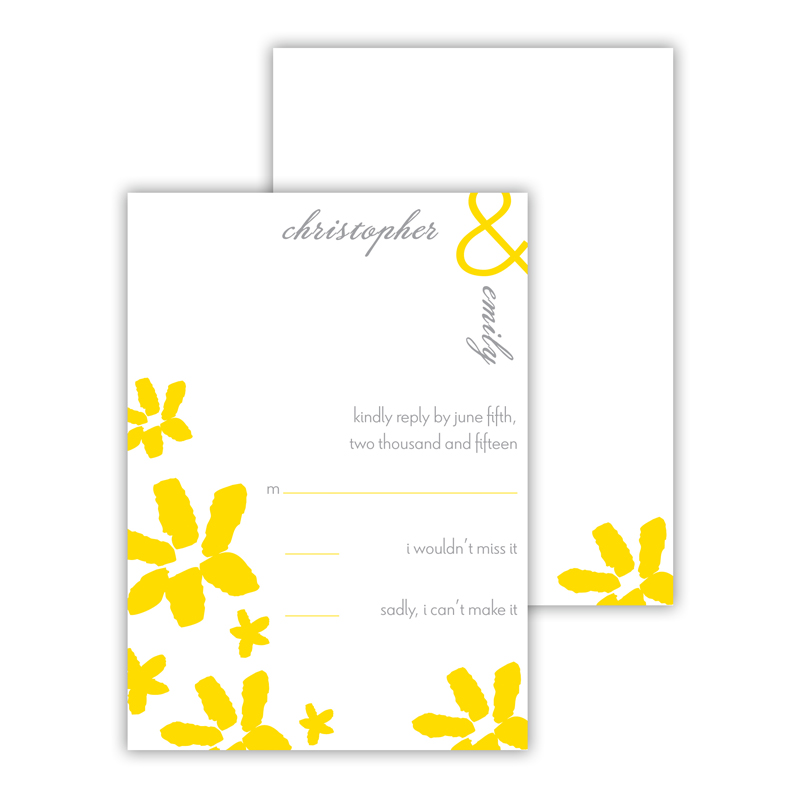 Daisy 25 Personalized Response Cards