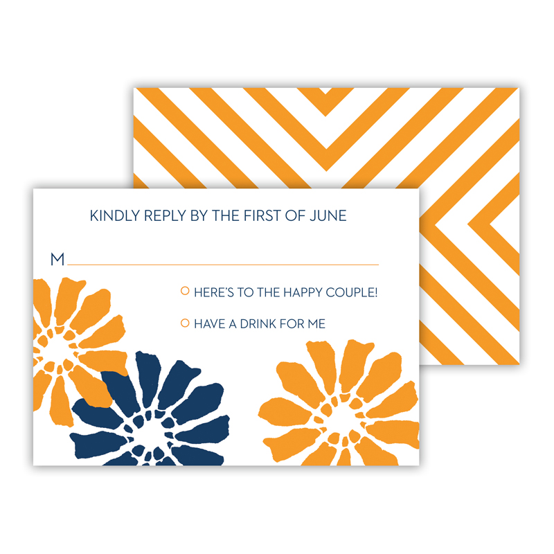 Poppies 25 Personalized Response Cards