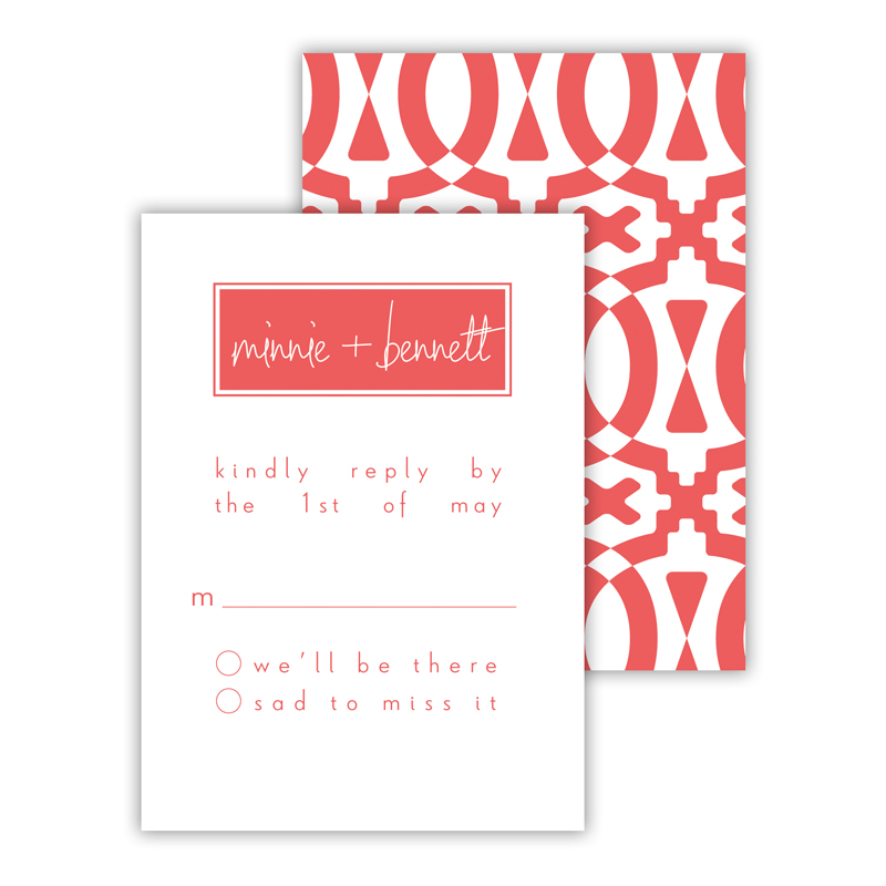 Poppy 2 25 Personalized Response Cards