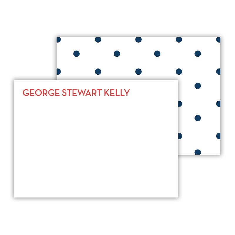 Dottie Personalized Mini Flat Card (25)
