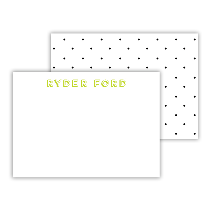 Swiss Dot Personalized Mini Flat Card (25)