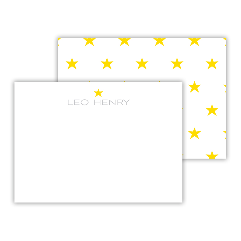 Bonne Nuit Personalized Mini Flat Card (25)